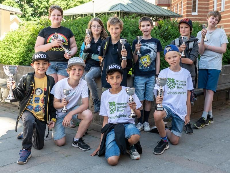 Pristagarna i den andra Schackfyranmästartävlingen