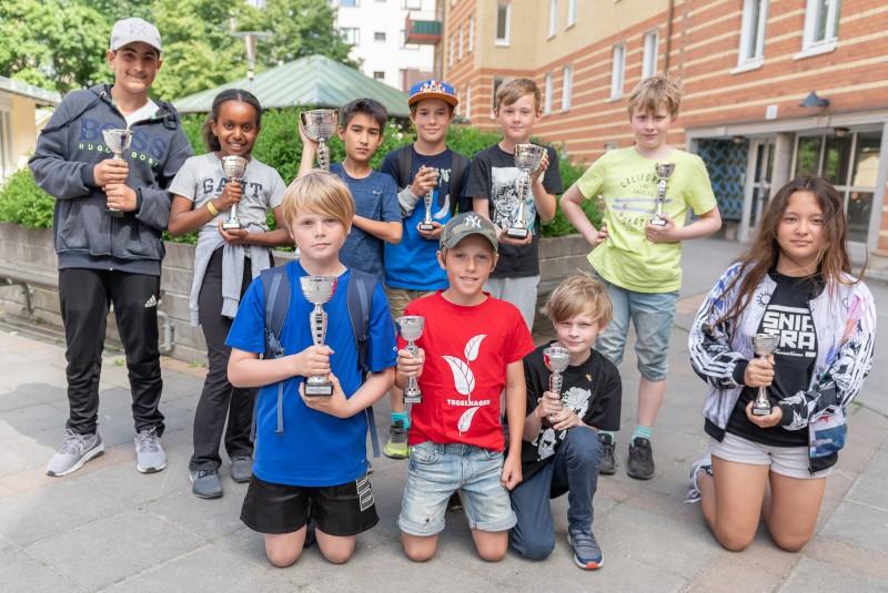 Pristagarna i den tredje Schackfyranmästartävlingen